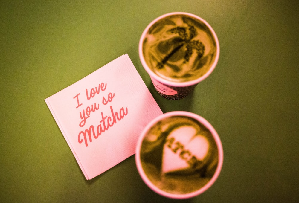 two matcha coffees