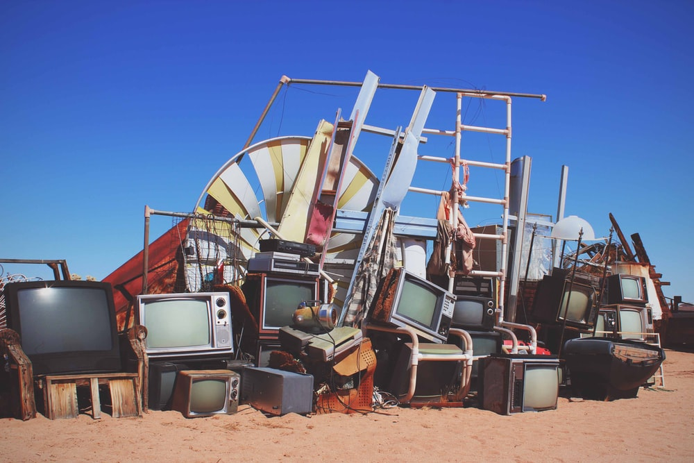 assorted televisions in shallow focus