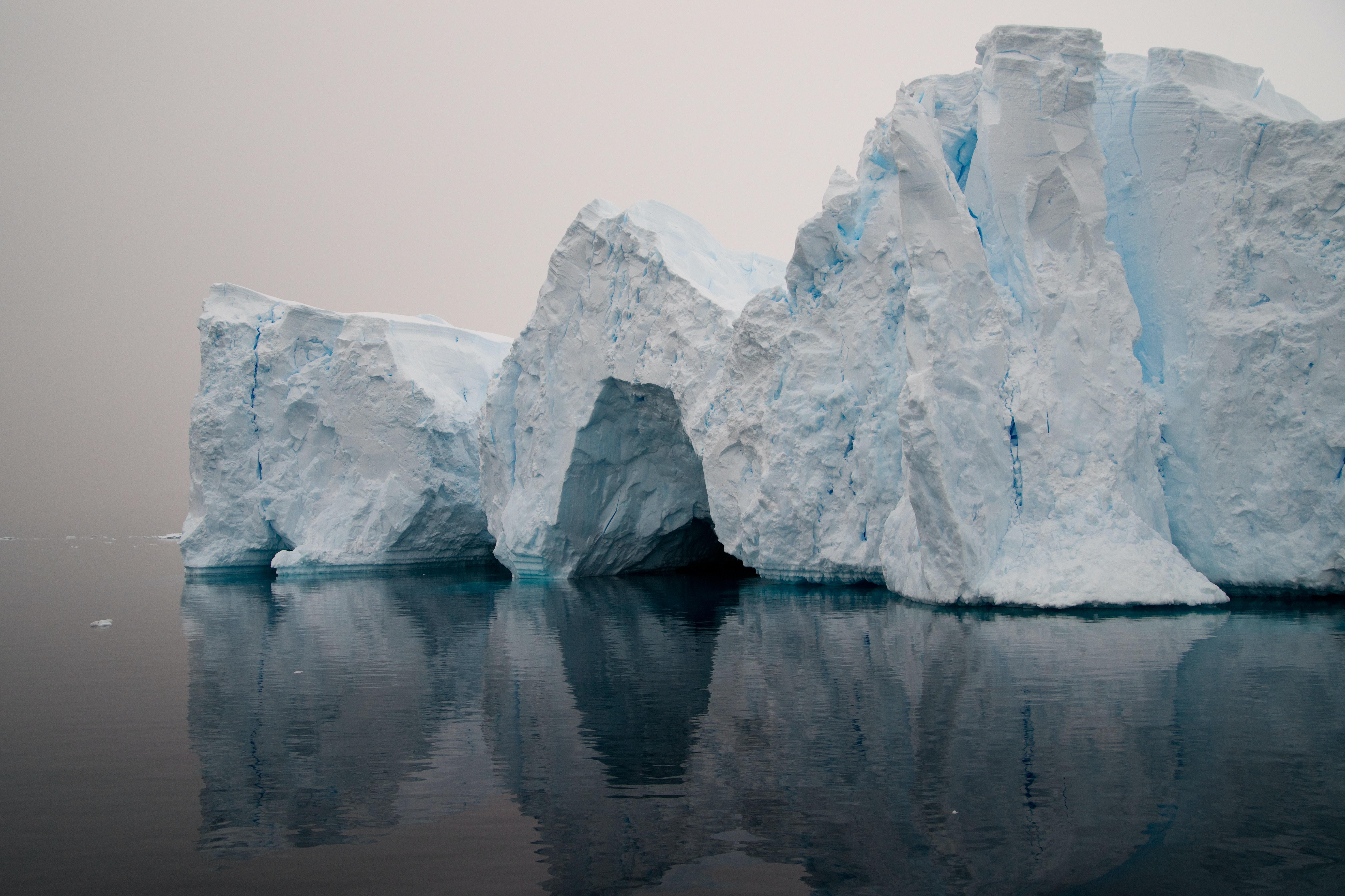 white ice cliff