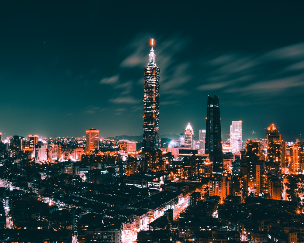 city during night time