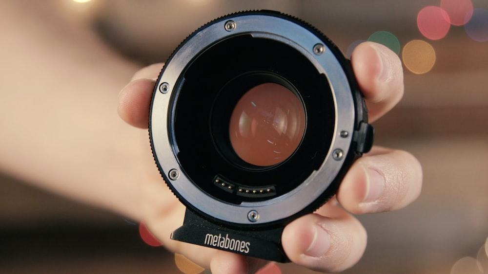 selective focus photography of gray Metabones camera