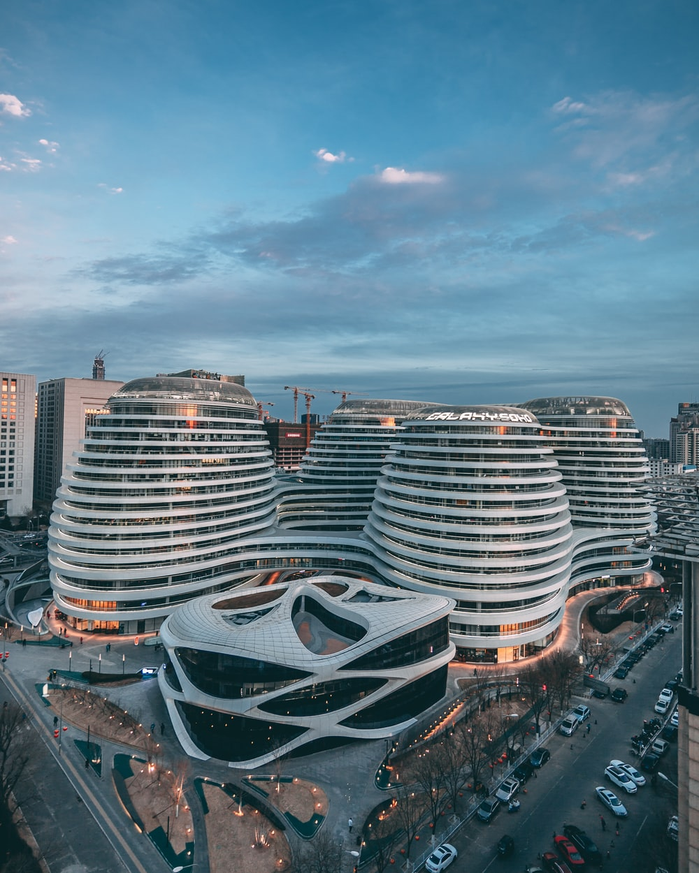 white modern architectural building