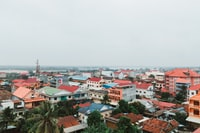 bird's eyeview photo of urban houses