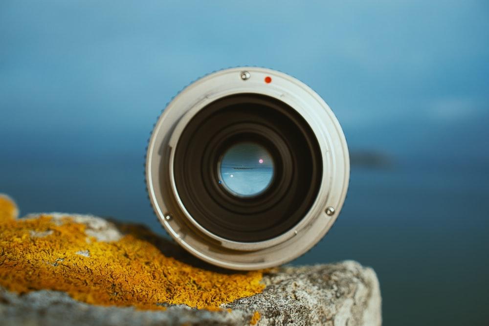 photograph of camera lens