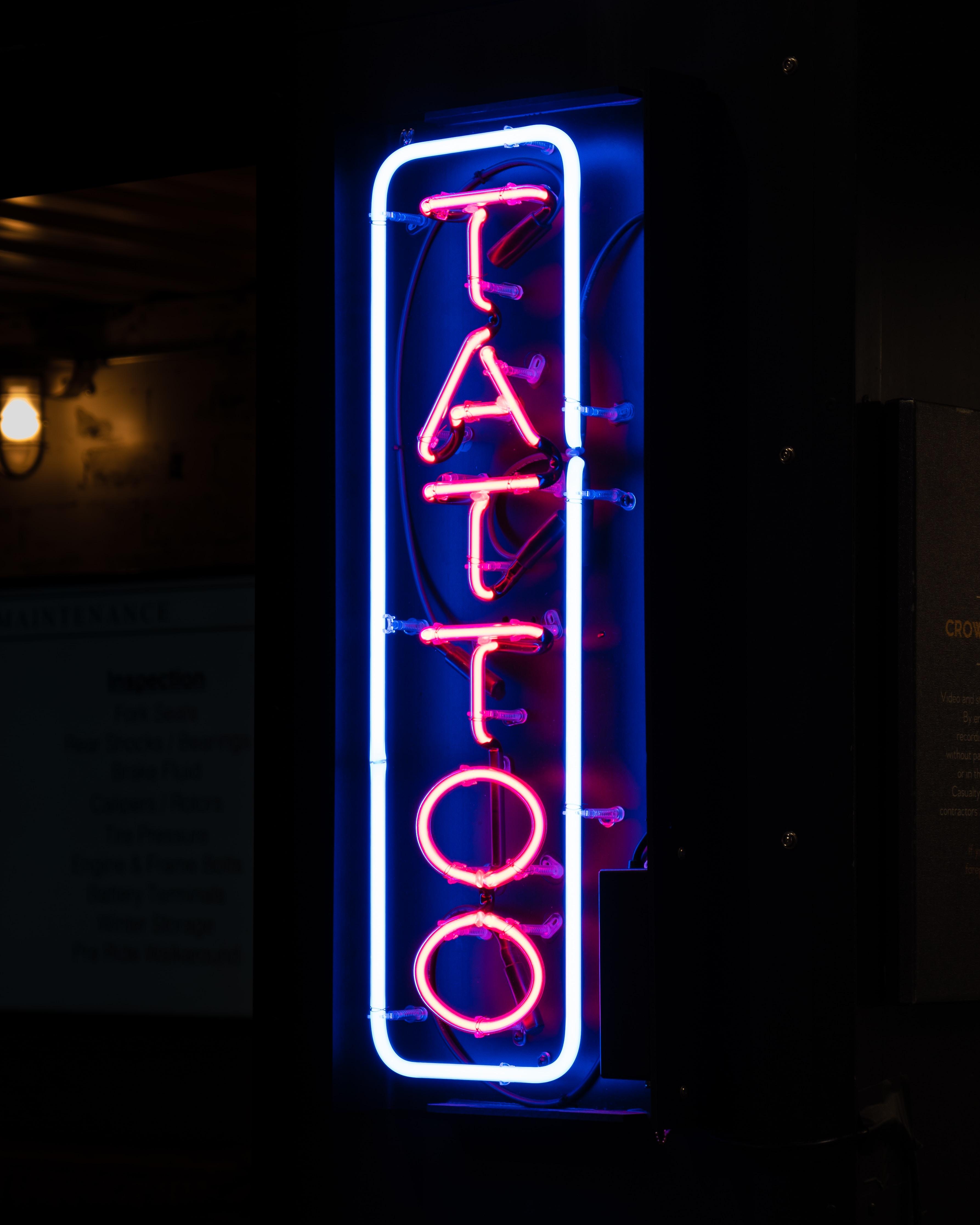 Tattoo neon signage