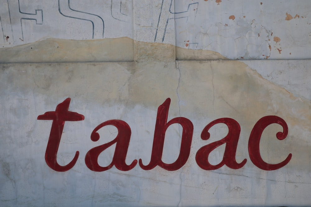 Tabac text wall print