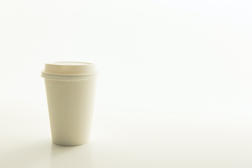 disposable cup on surface