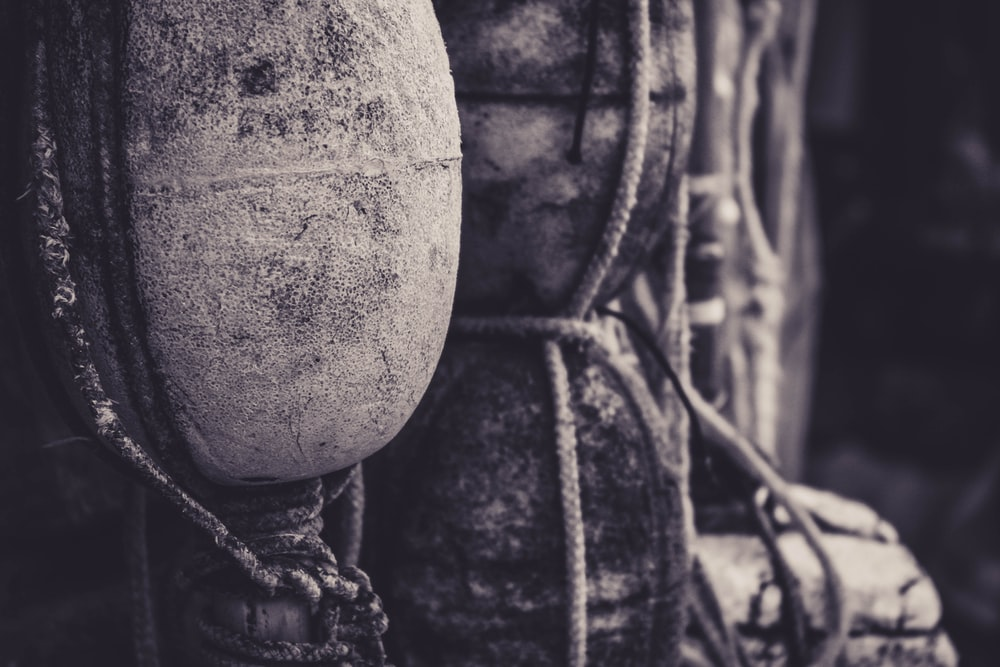 selective focus photography of buoy