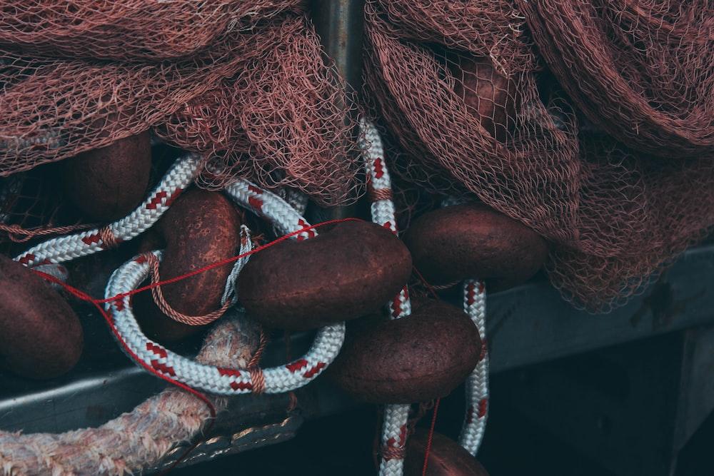 brown fish net
