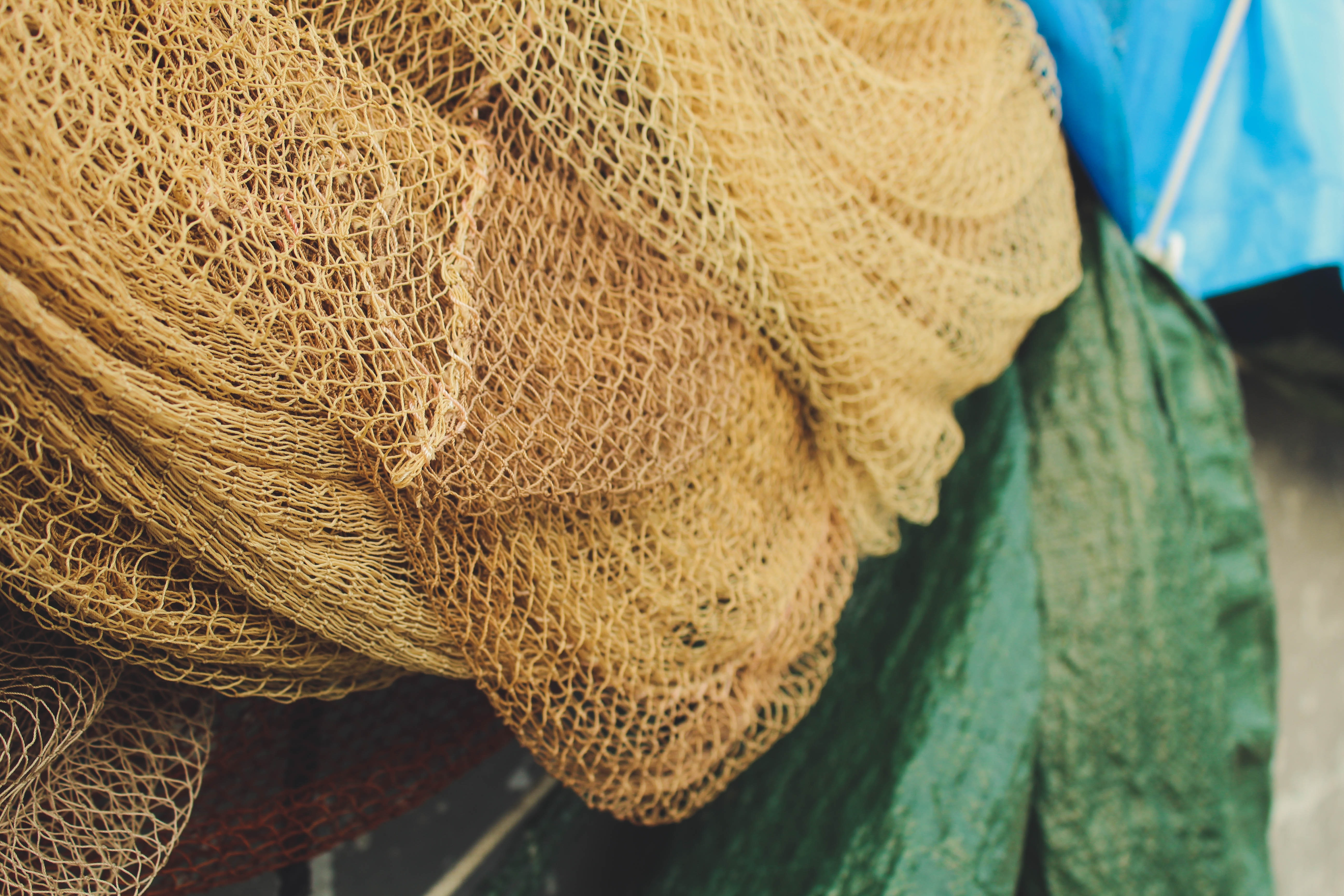 brown fishnet