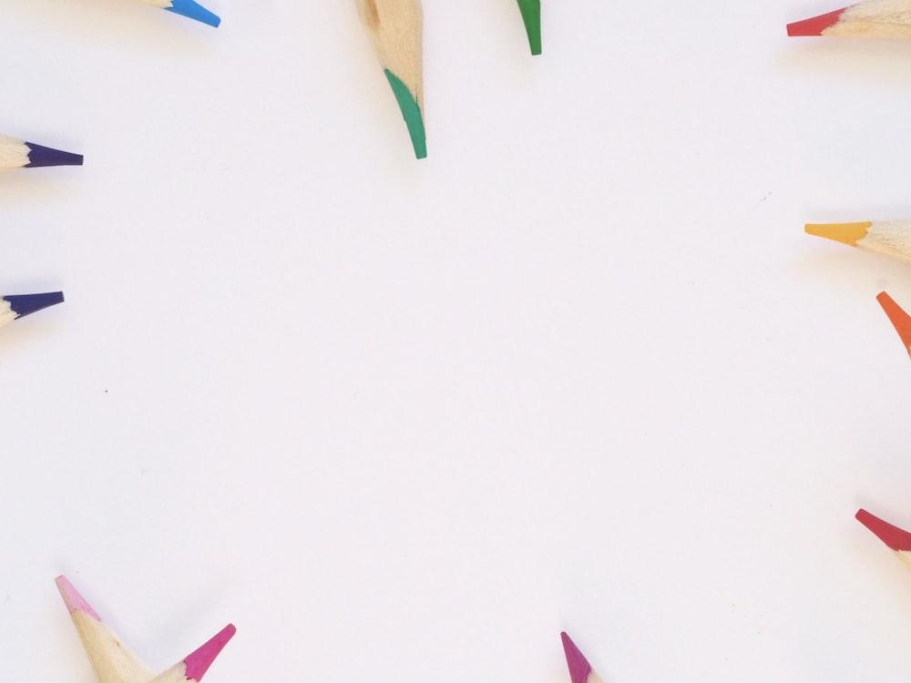 assorted-color coloring pencils