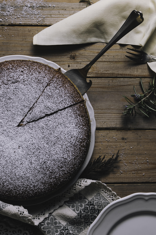 platter of chocolate cake