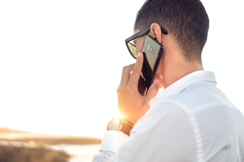 Customer on phone call