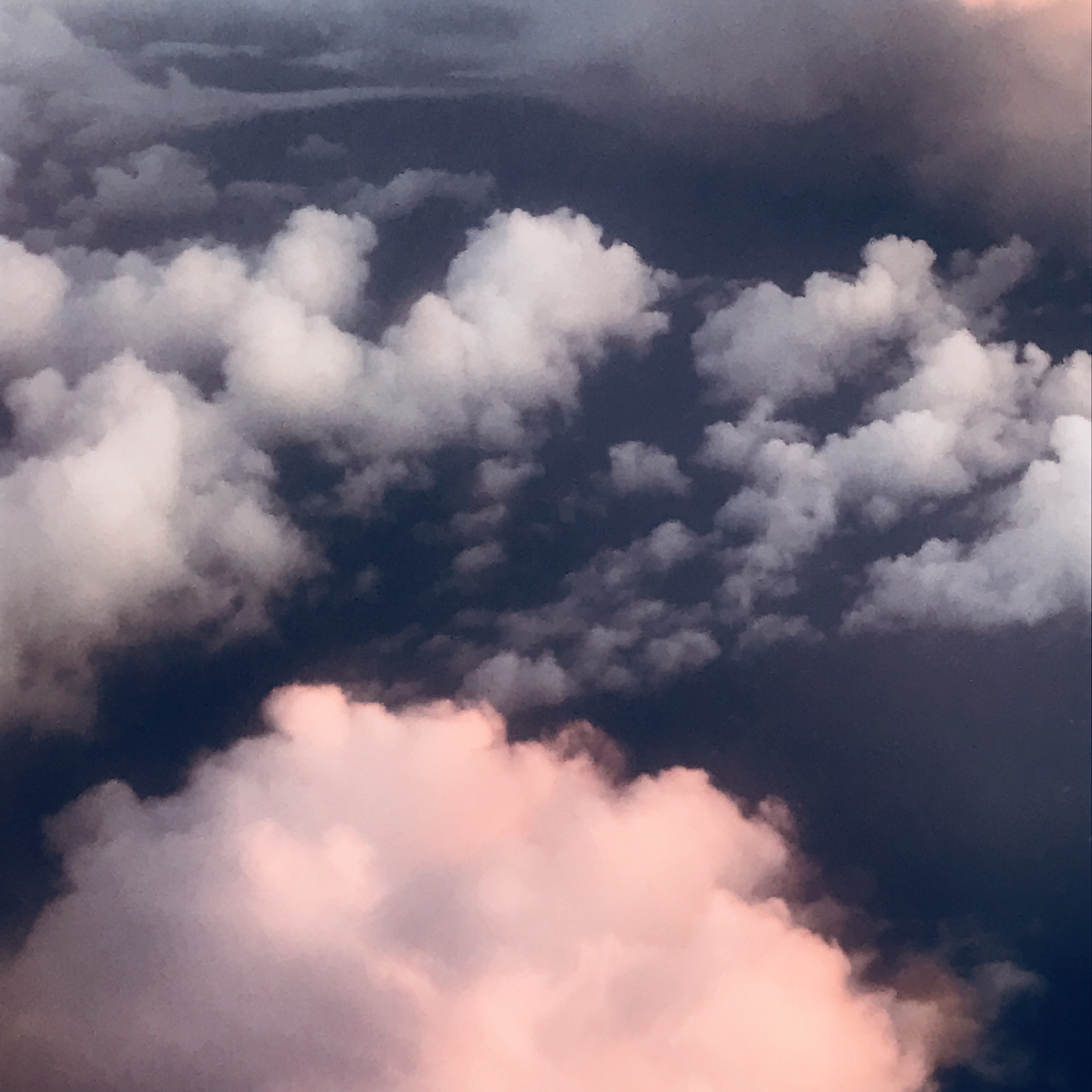 aerial photo of sea of clouds