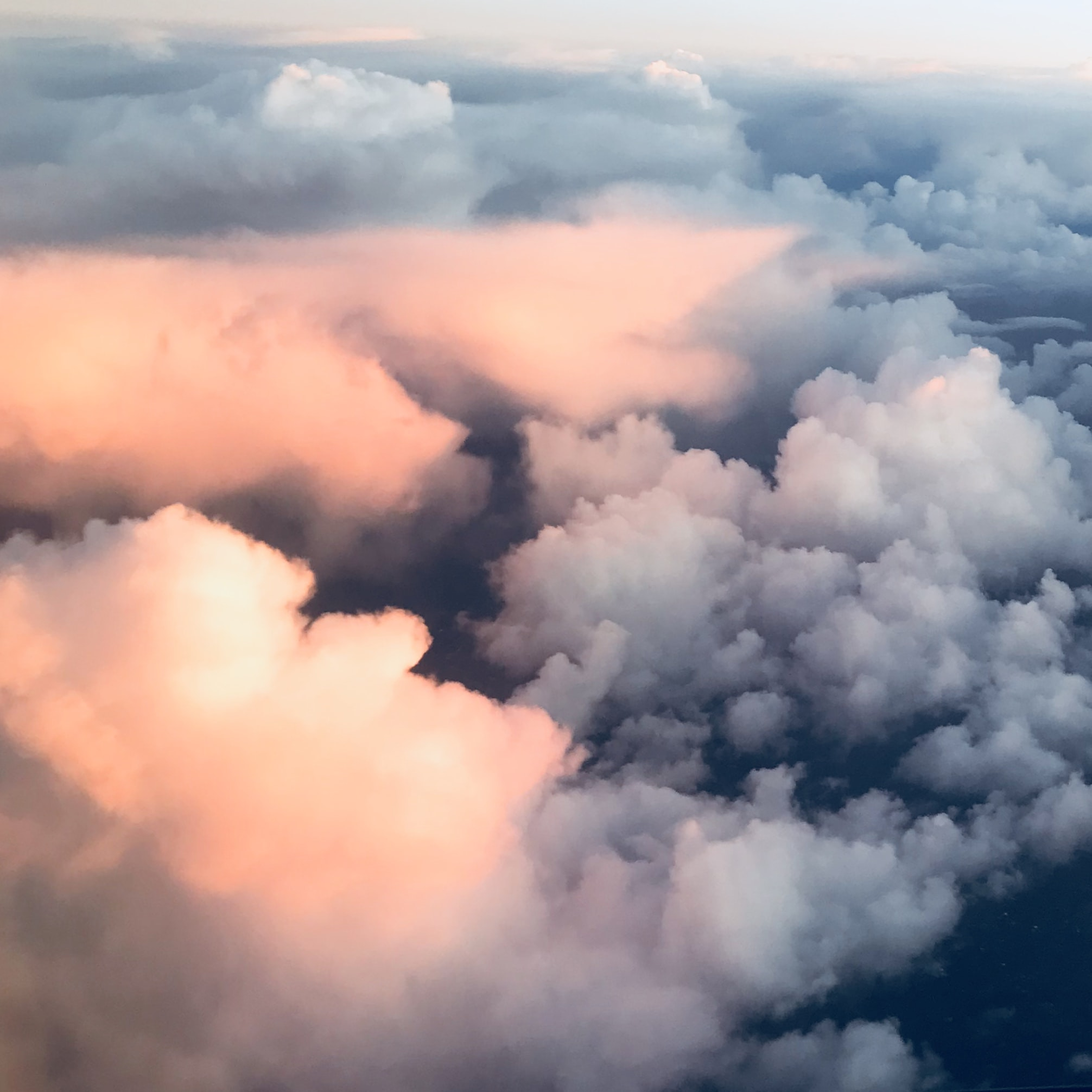 bird's eye view photography of clouds