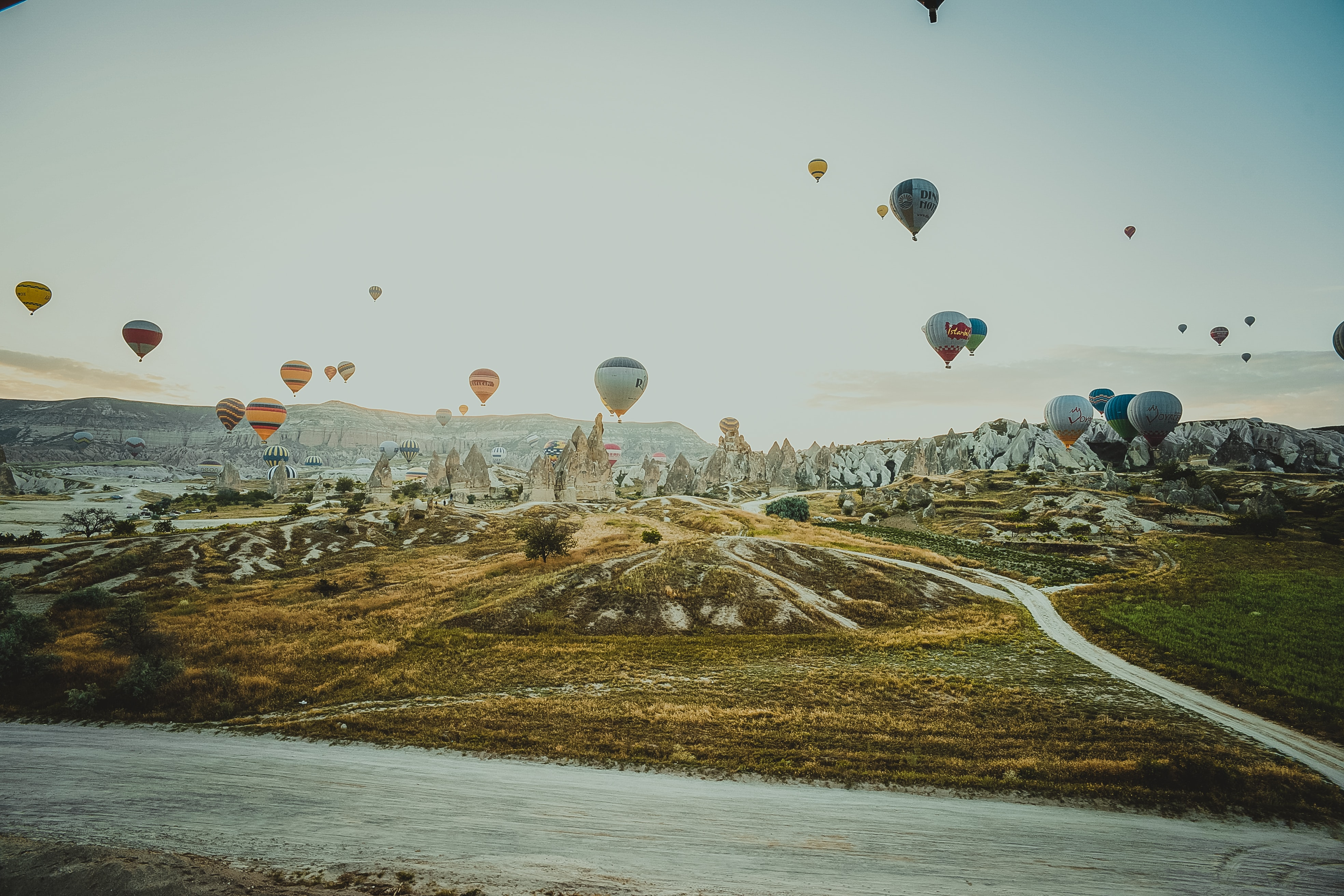 assorted-color hot air balloons floating on air during daytime