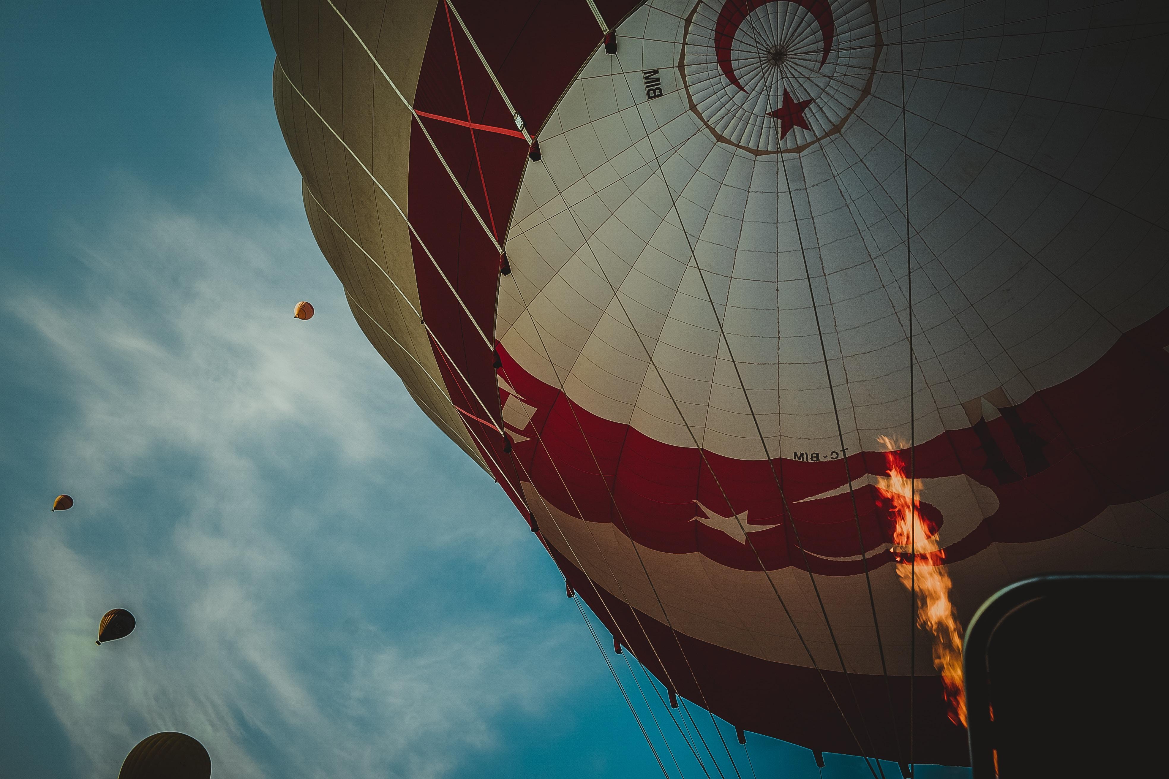 Turkey flag print hot air balloon