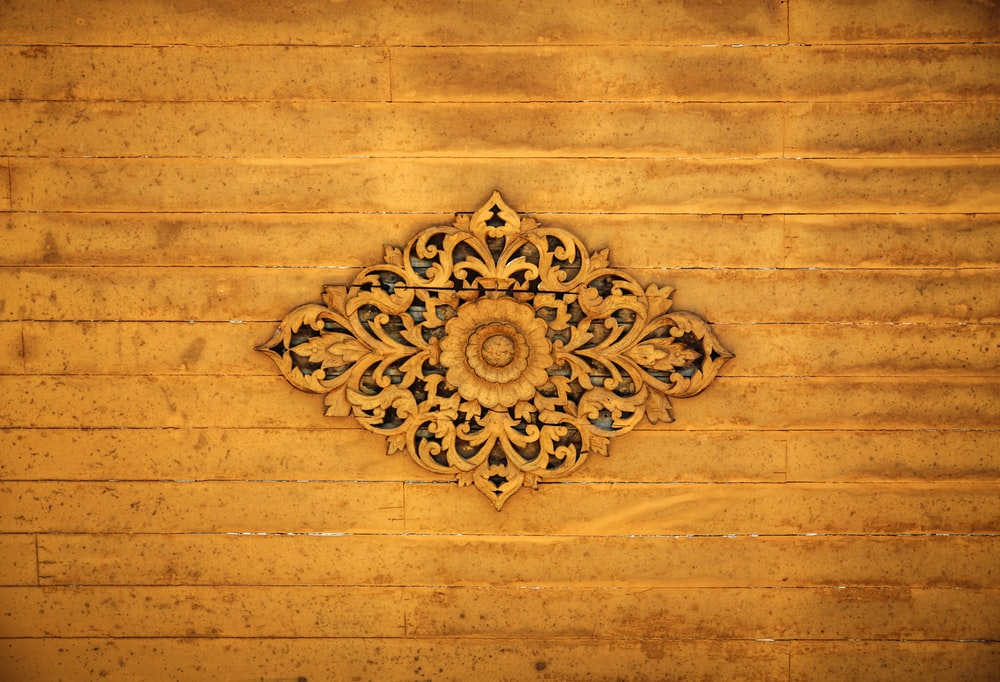 brown floral decor