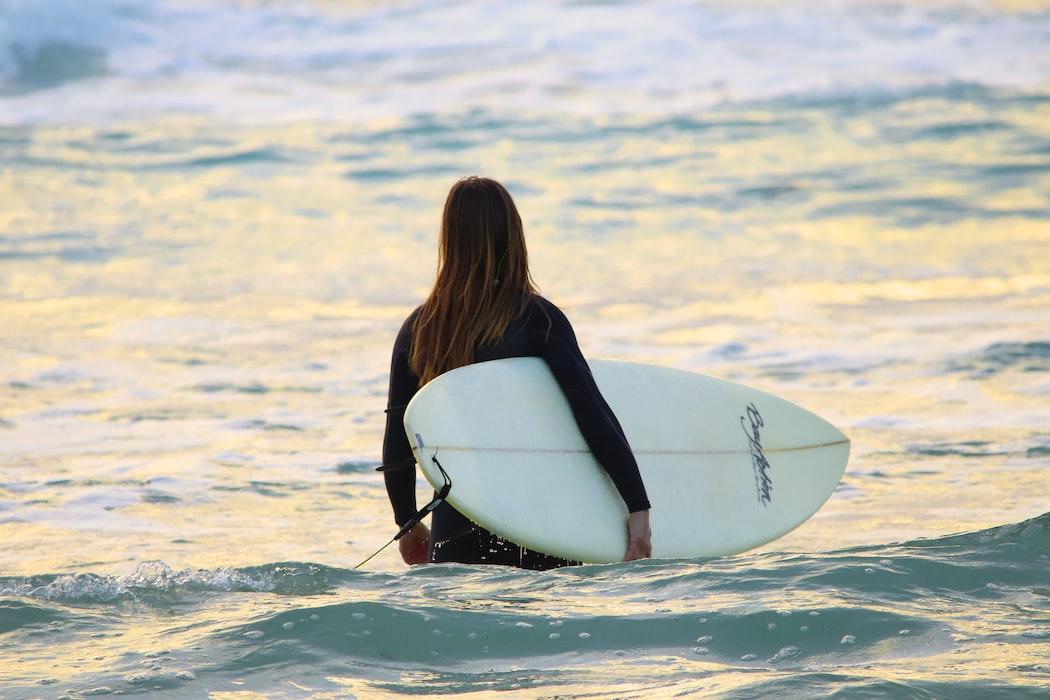 Surfing in bora bora