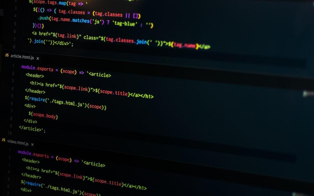 computer codes screenshot