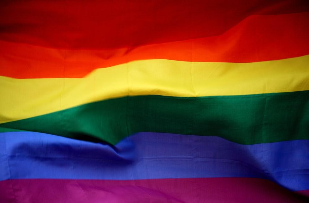 closeup photo of multicolored stripe flag
