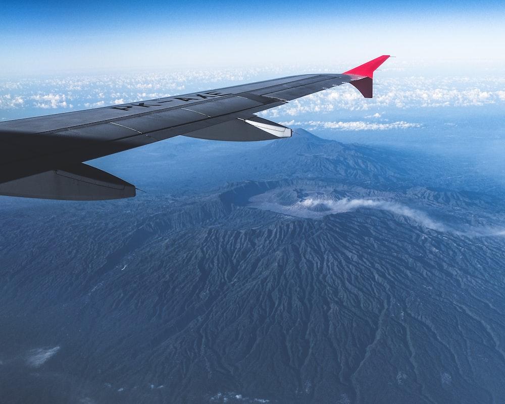 aerial shot of mountain