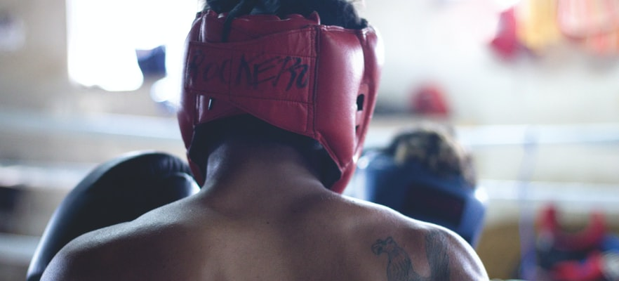 Boxer about to enter the ring
