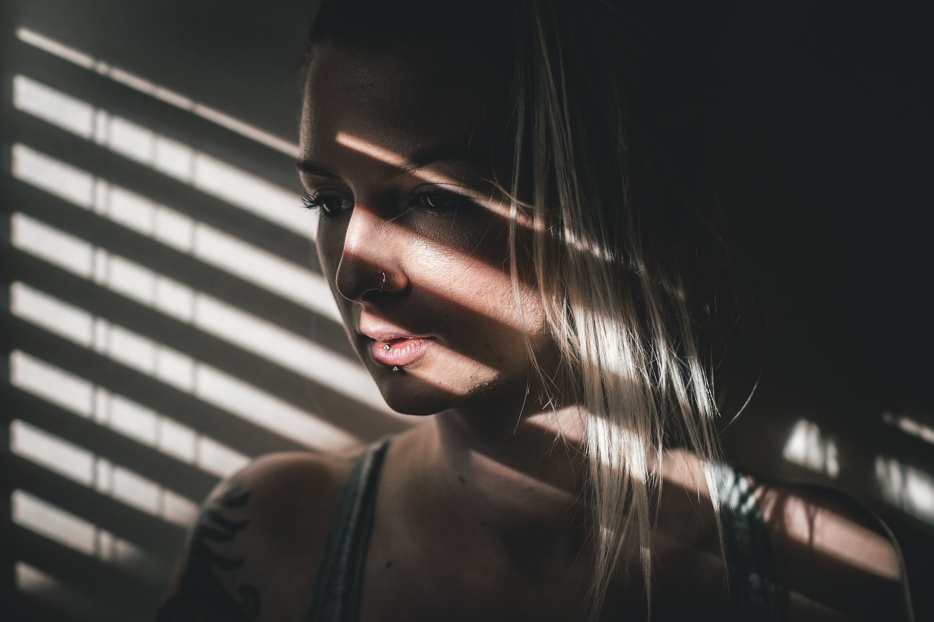 close up photo of woman indoors