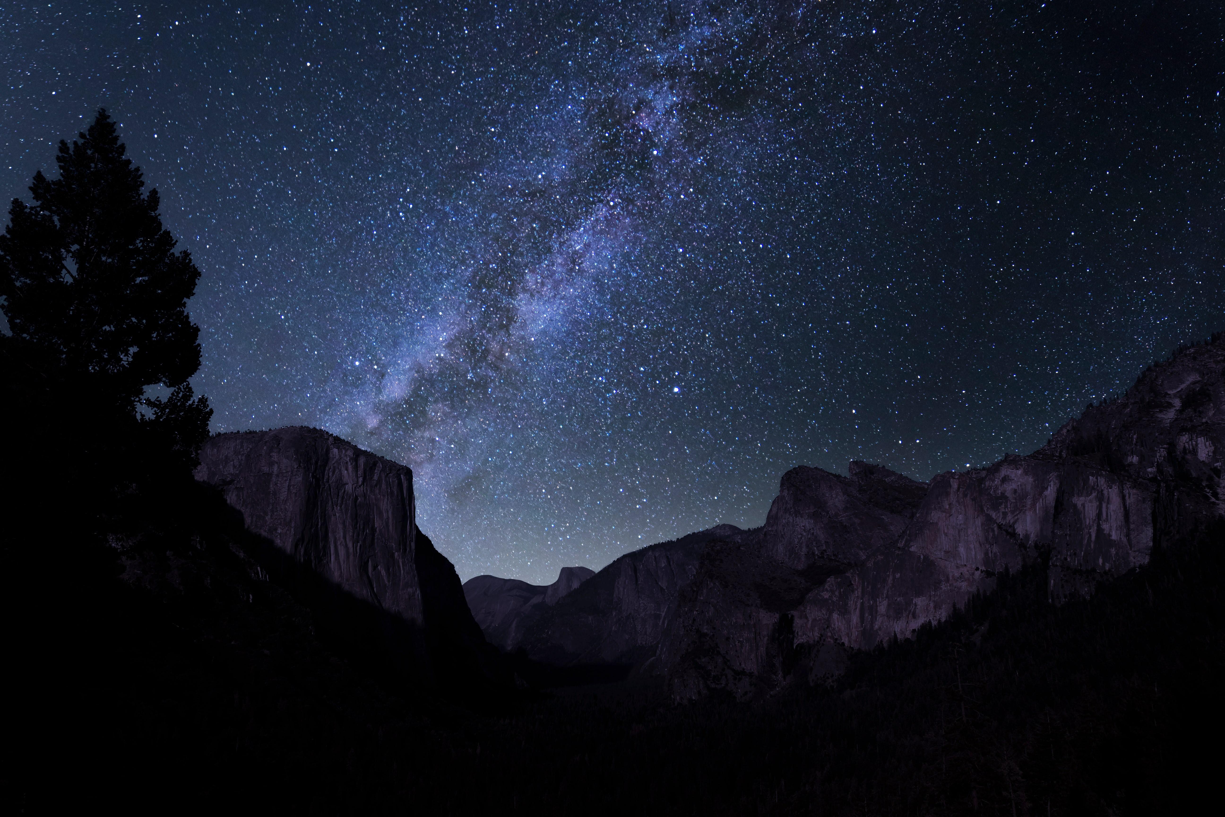 constellation above mountain