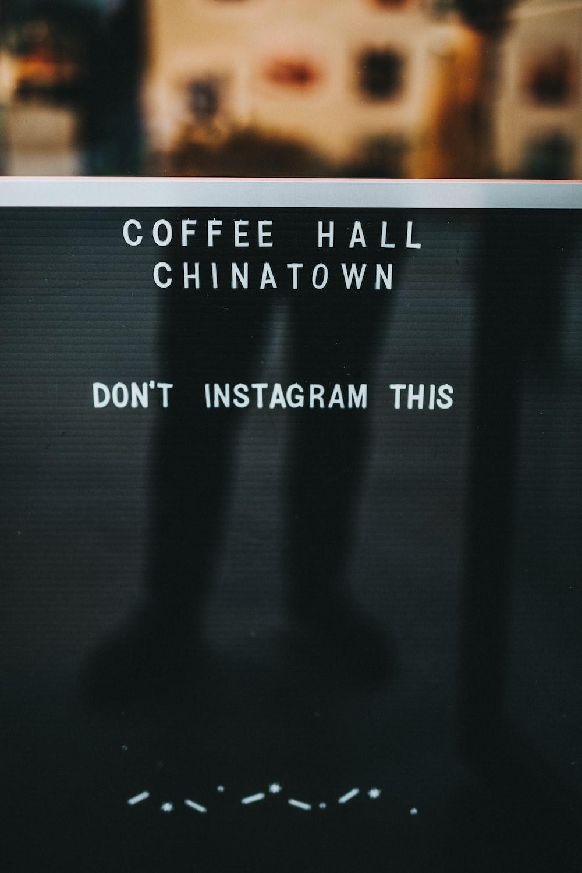 Coffee Hall Chinatown signage