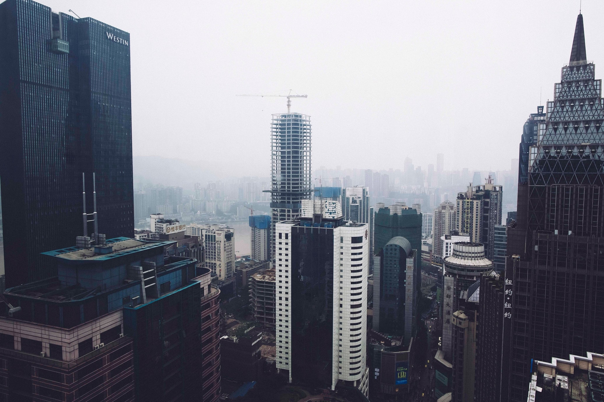 Buildings in Chongqing, China (Jon Grogan via Unsplash)