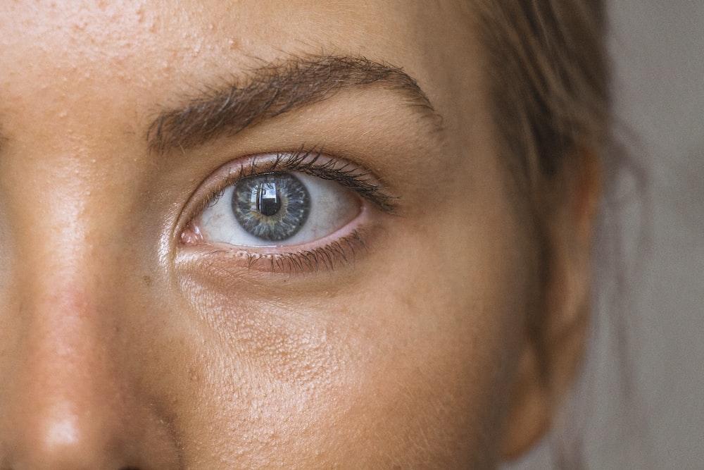 zbliżenie oczu osób