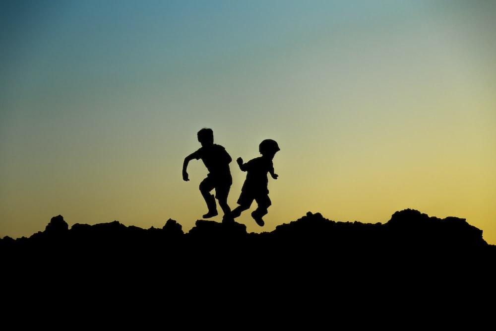 silhouette of childrens illustration