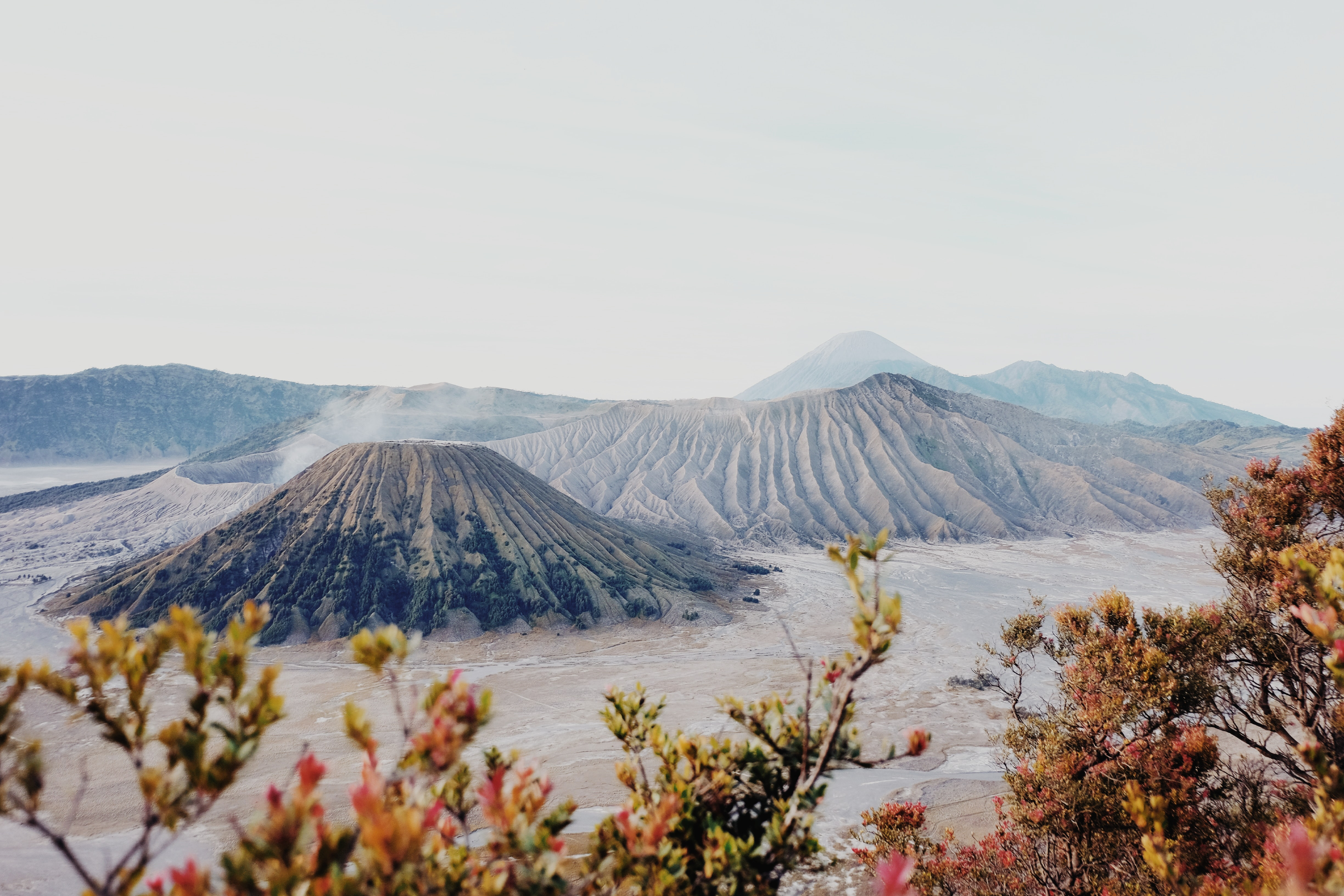 brown volcano in landscape photography