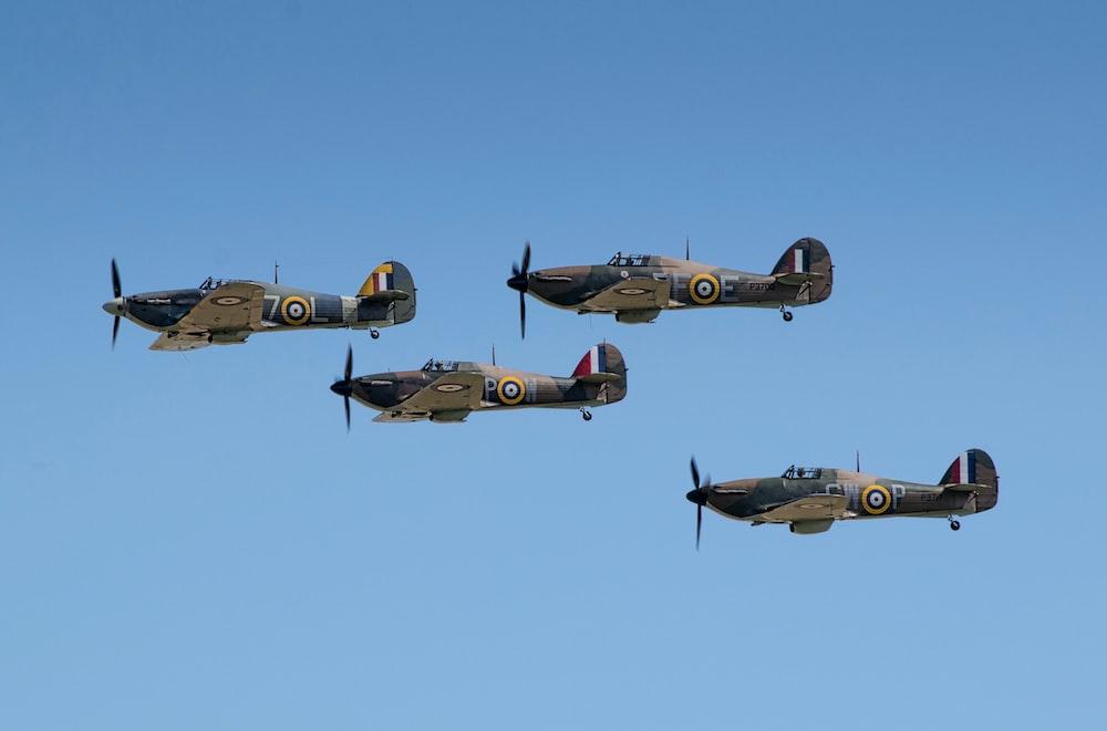 four black fighter jets