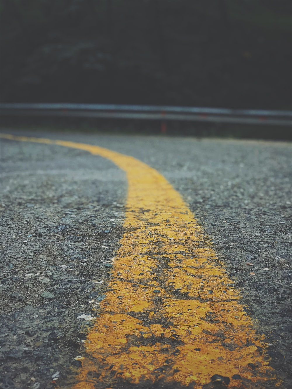 close up photography of asphalt road