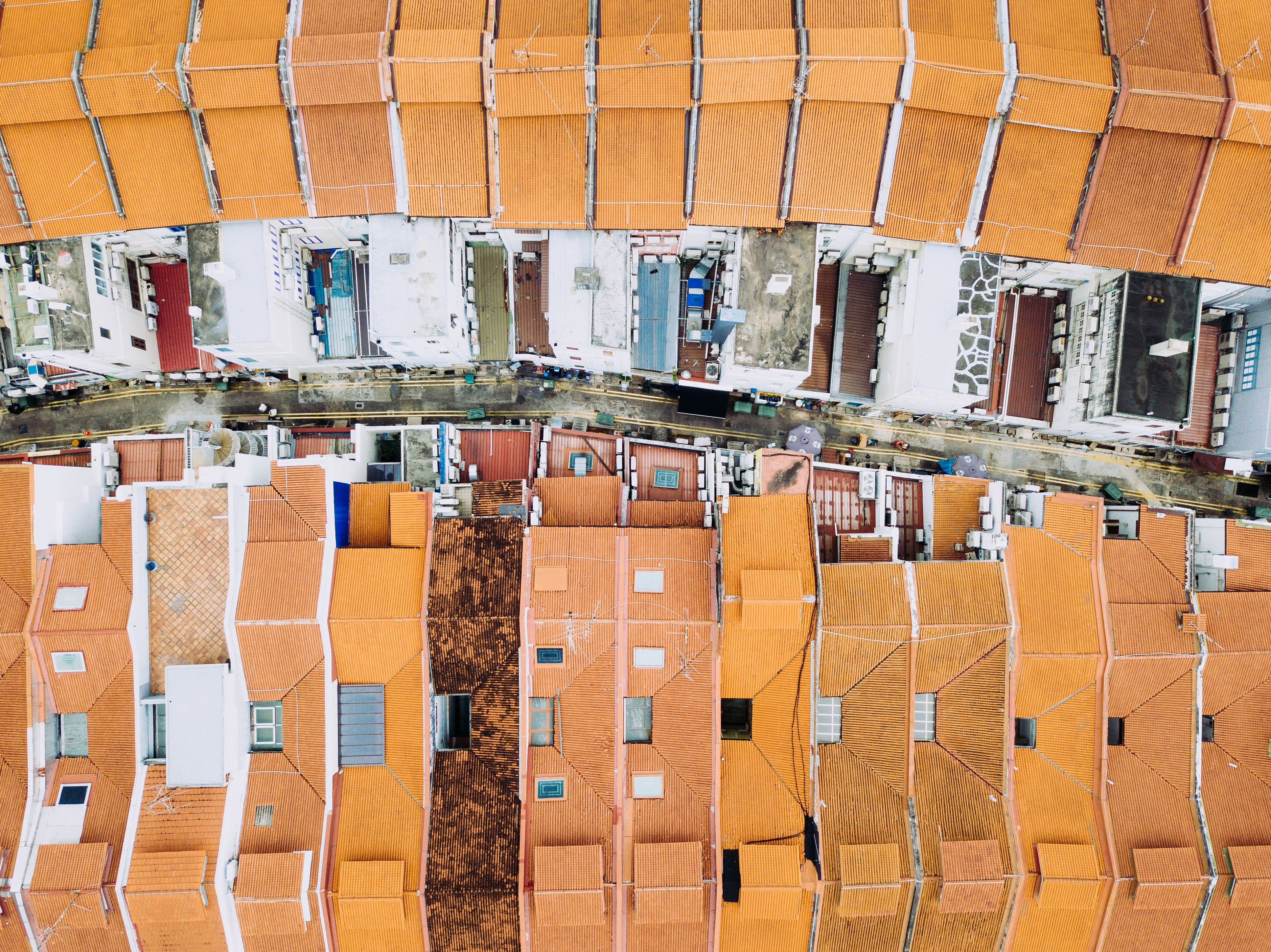 aerial view photography of houses during daytime
