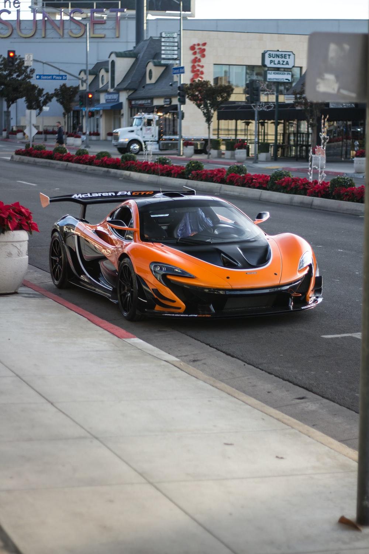 orange and black super car