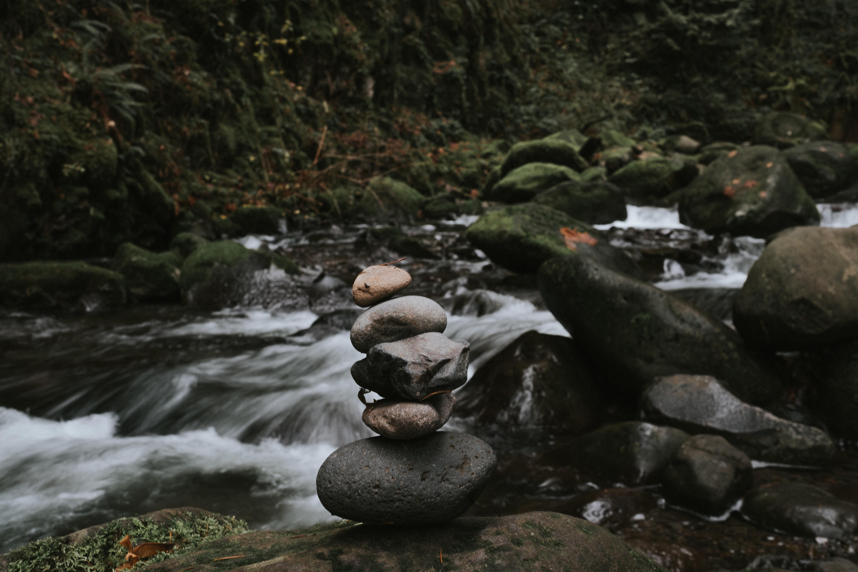 rock formation near river