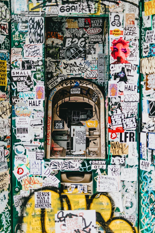 ATM machine with graffiti