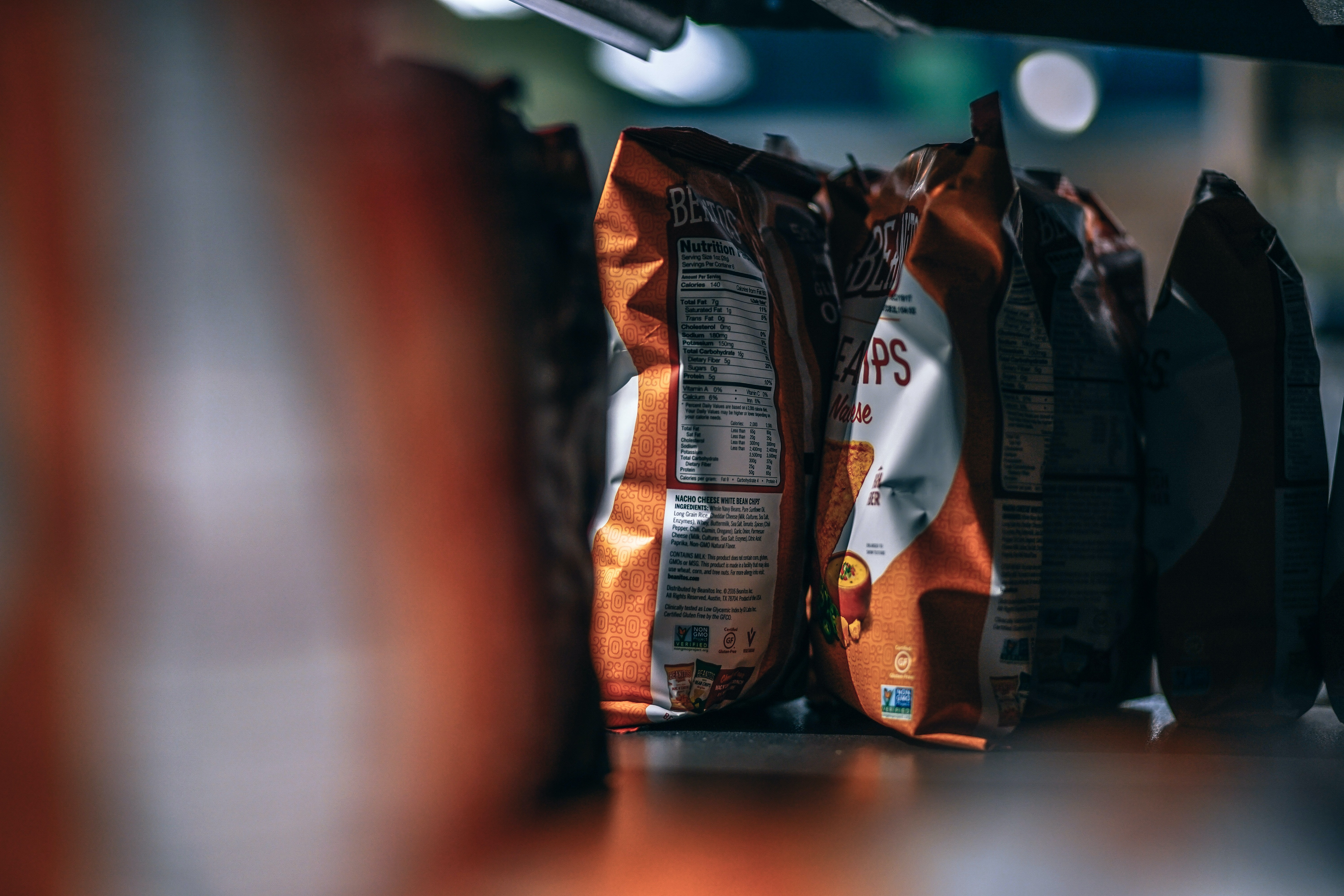 selective focus photography of chips bag
