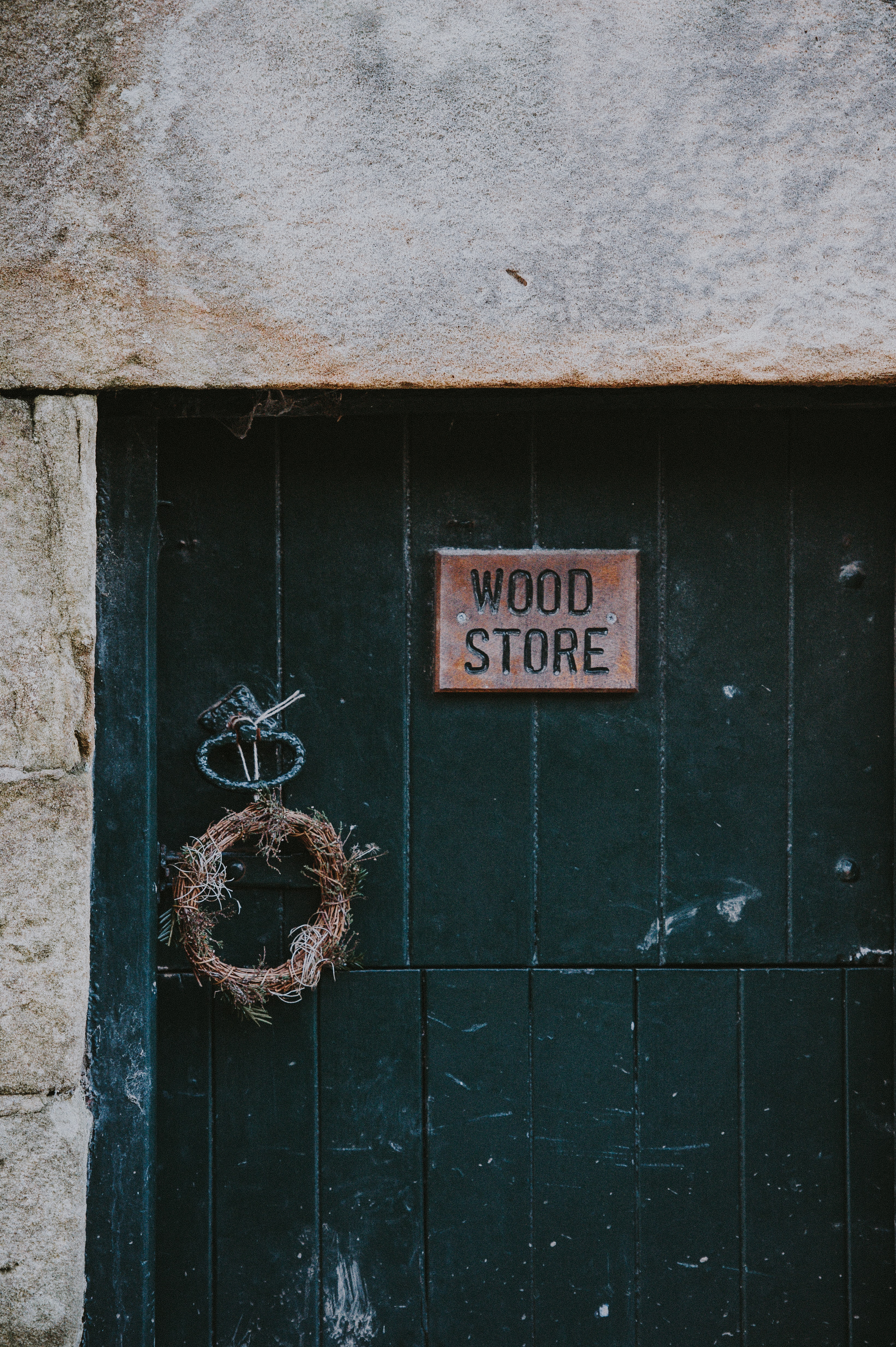 Wood Store signage on wall