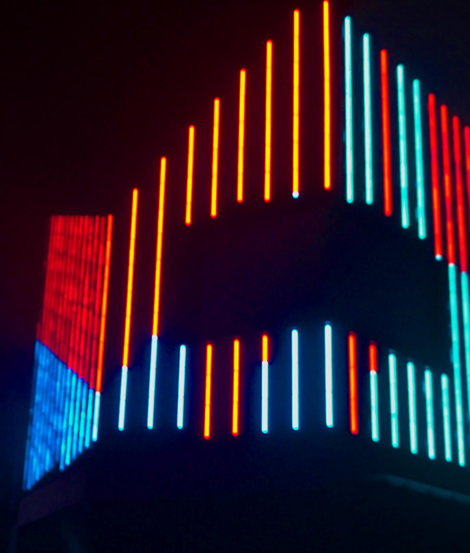 multicolored lights turned on