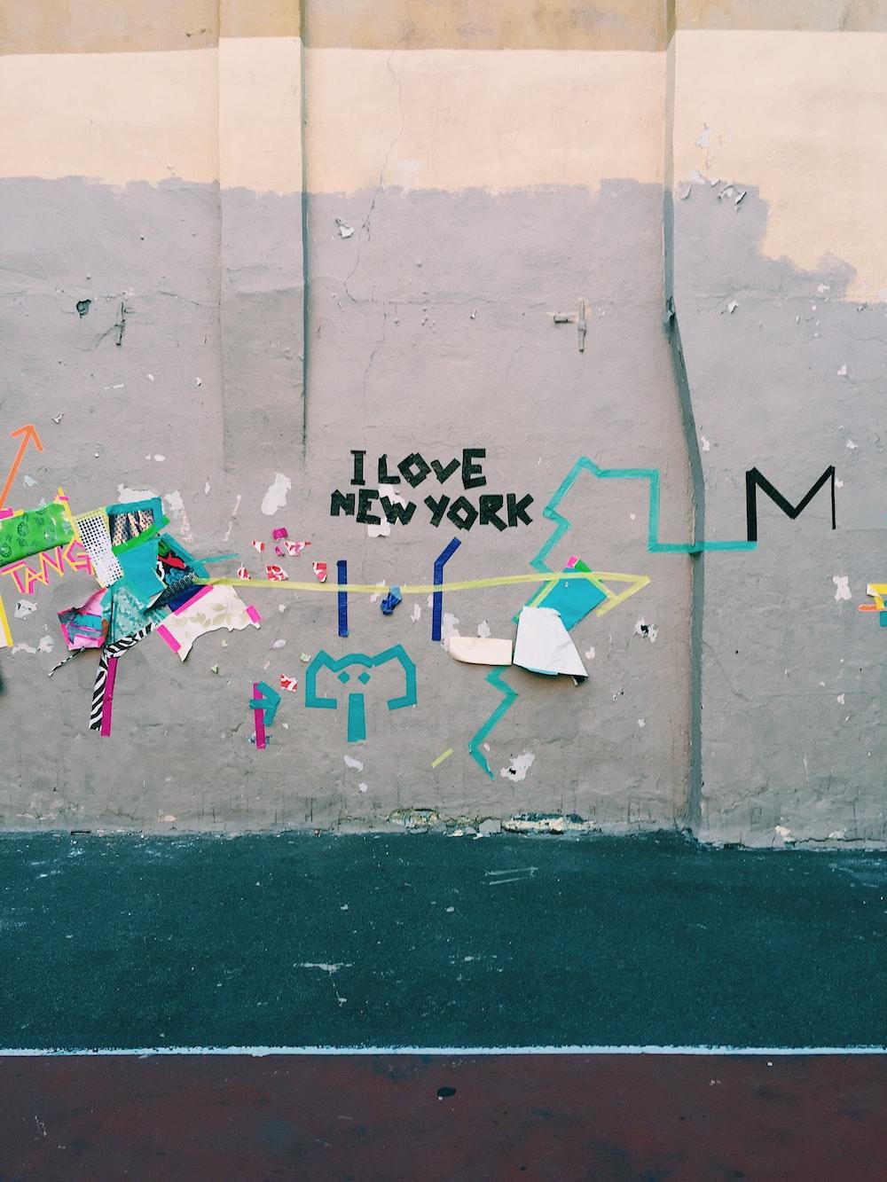 i love New York printed on wall