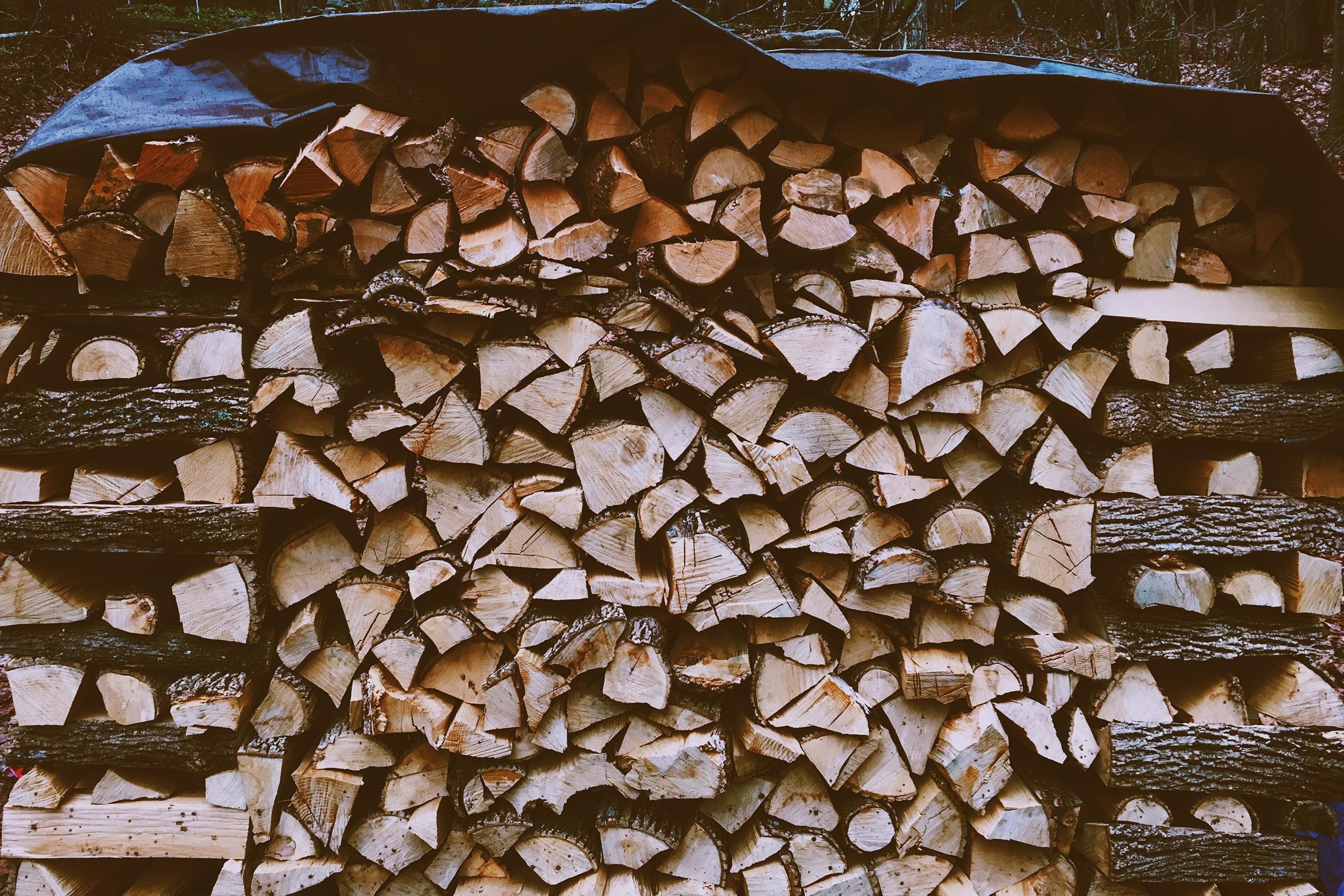 brown firewood cord