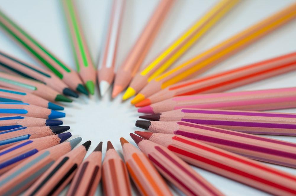 assorted-color pencil