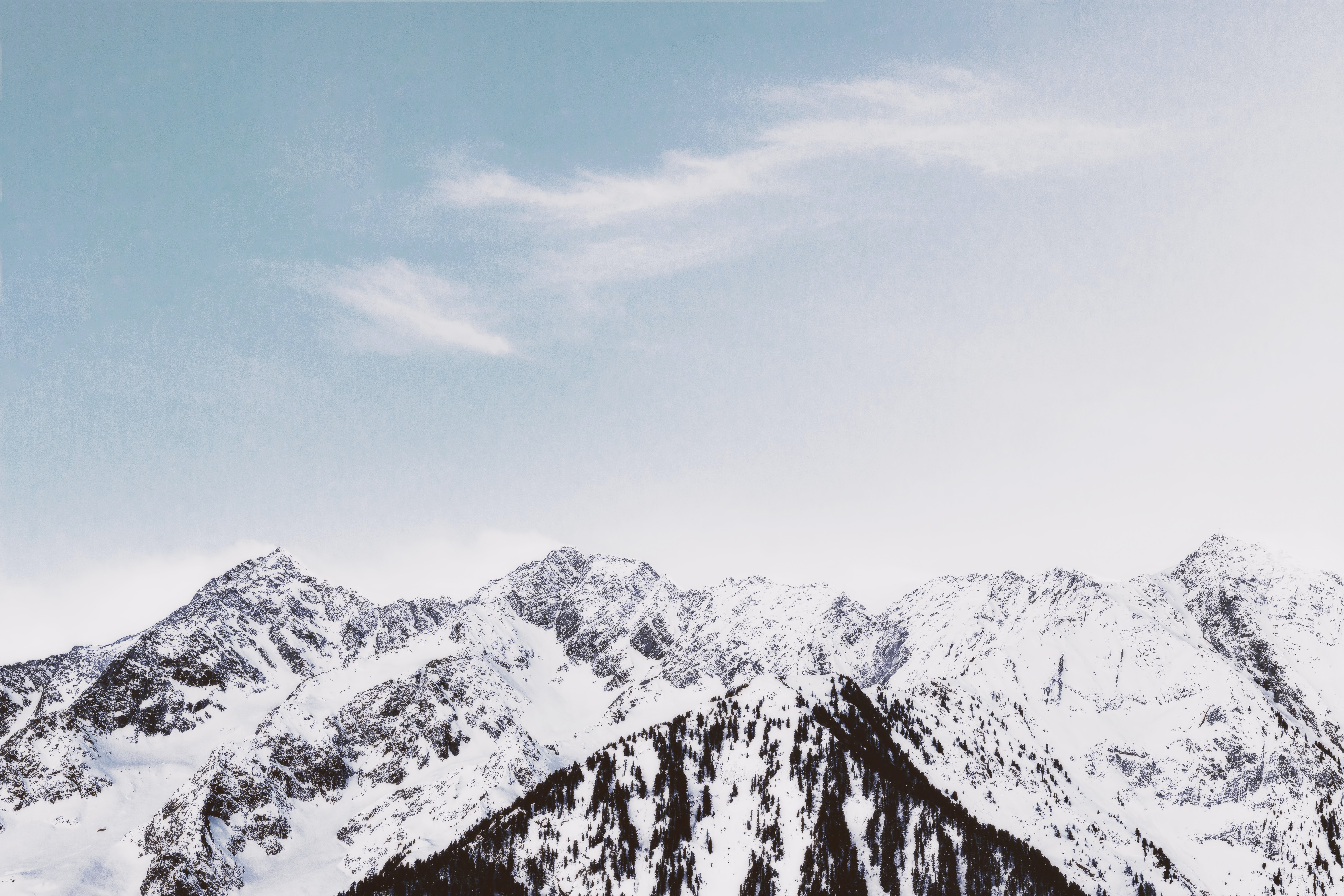 snow capped mountain ranges