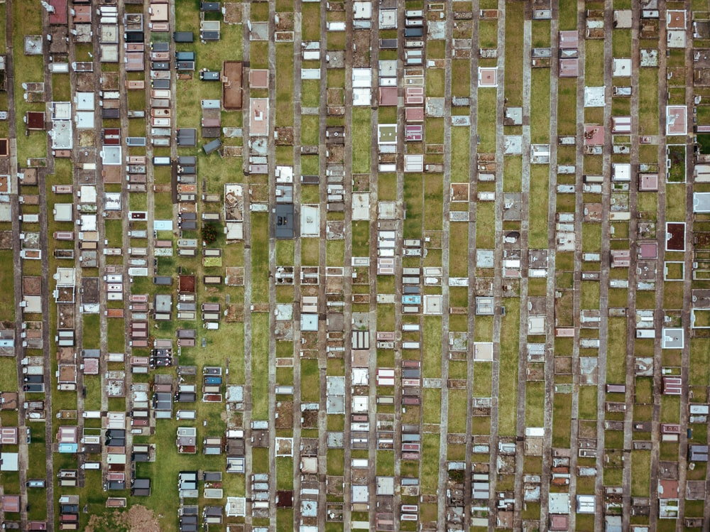 aerial hptography of houses