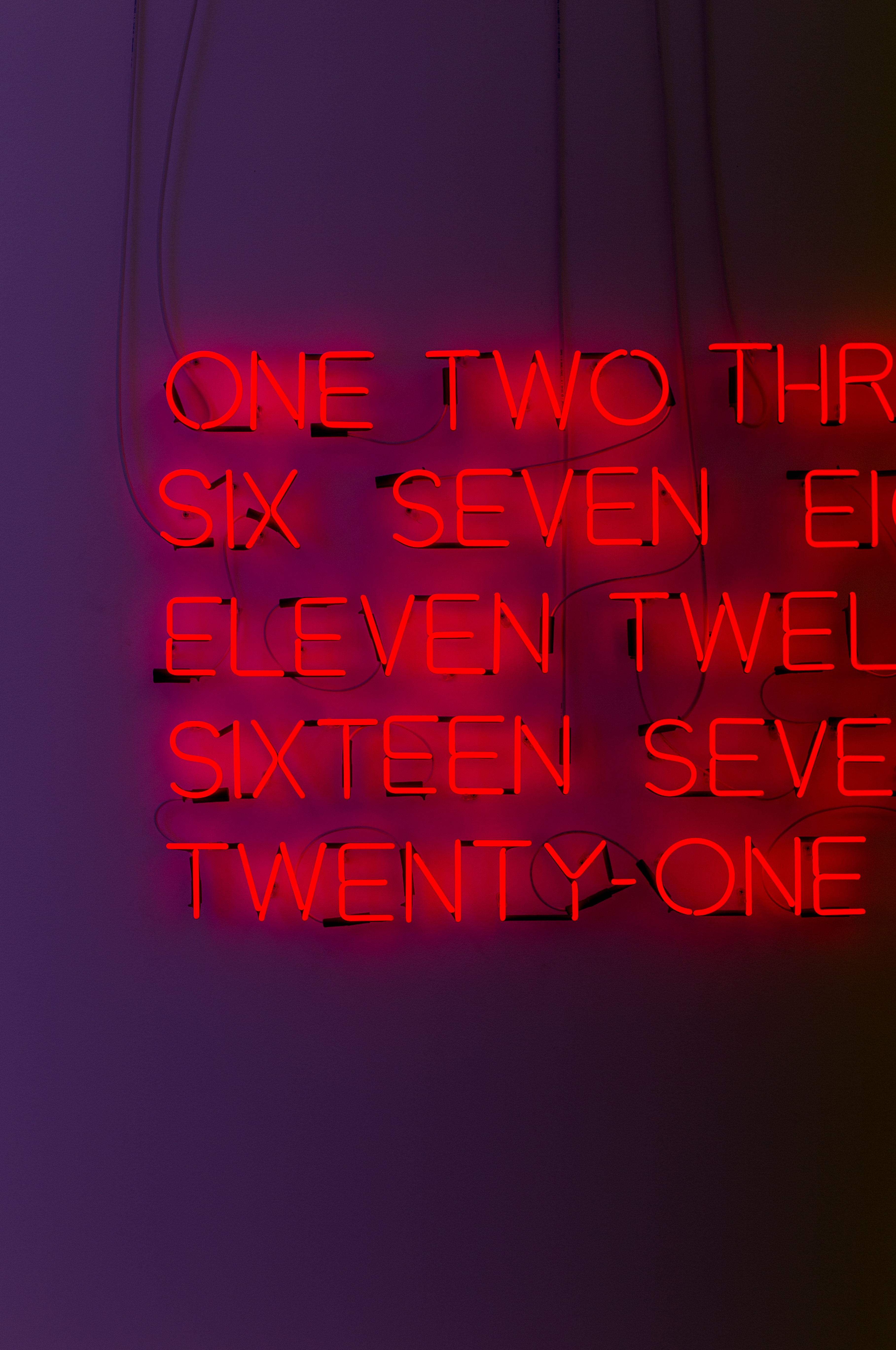 red number neon signage