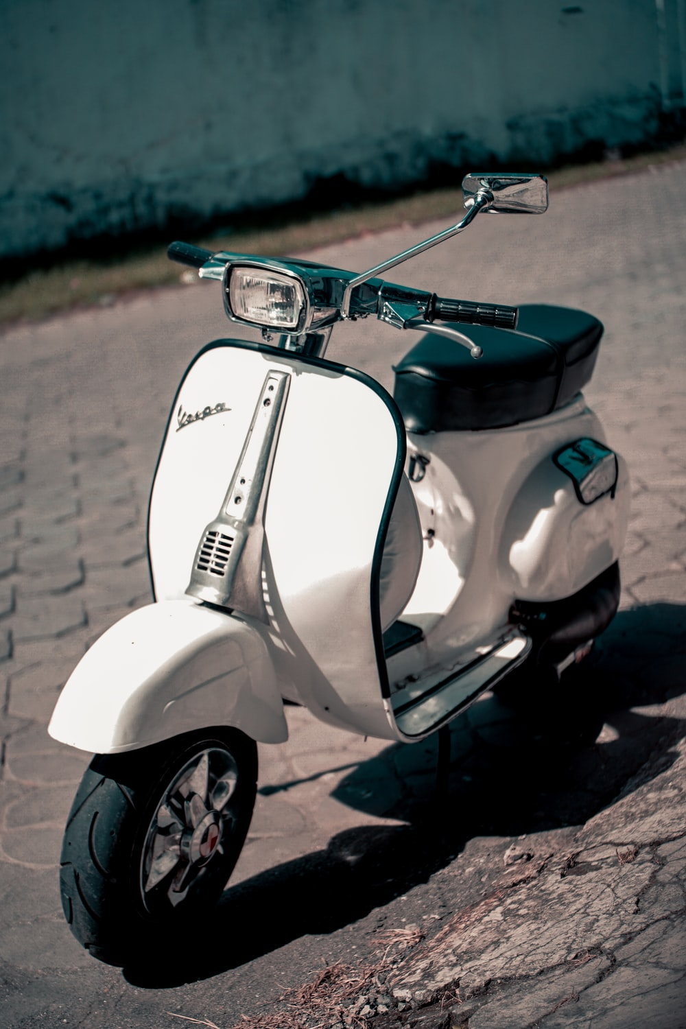 White And Black Motor Scooter